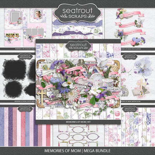 Memories Of Mom - Mega Bundle Digital Art - Digital Scrapbooking Kits