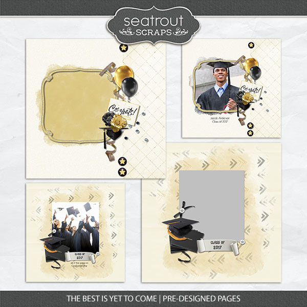 The Best Is Yet To Come - Pre-designed Editable Pages Digital Art - Digital Scrapbooking Kits