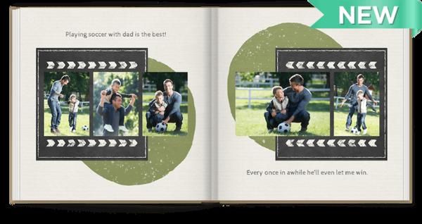Chalkboard Snapshots Photo Book