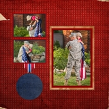 Military 12x12 Predesigned Pages
