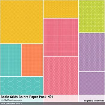 Basic Grids Colors Paper Pack No. 01