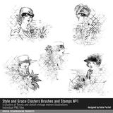 Style And Grace Clusters Brushes And Stamps No. 01
