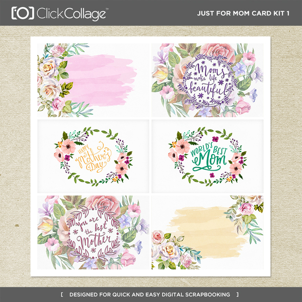 Just For Mom Card Kit 1