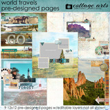 World Travels Pre-designed Pages