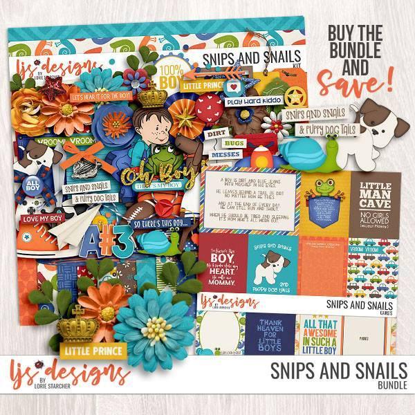 Snips And Snails - Bundle Digital Art - Digital Scrapbooking Kits