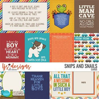 Snips And Snails - Cards Digital Art - Digital Scrapbooking Kits