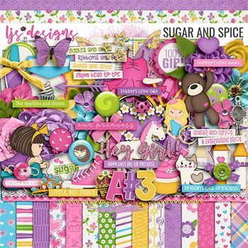 Sugar And Spice Digital Art - Digital Scrapbooking Kits