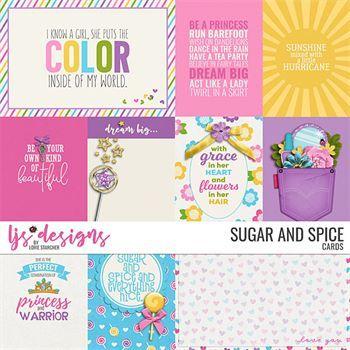 Sugar And Spice - Cards Digital Art - Digital Scrapbooking Kits