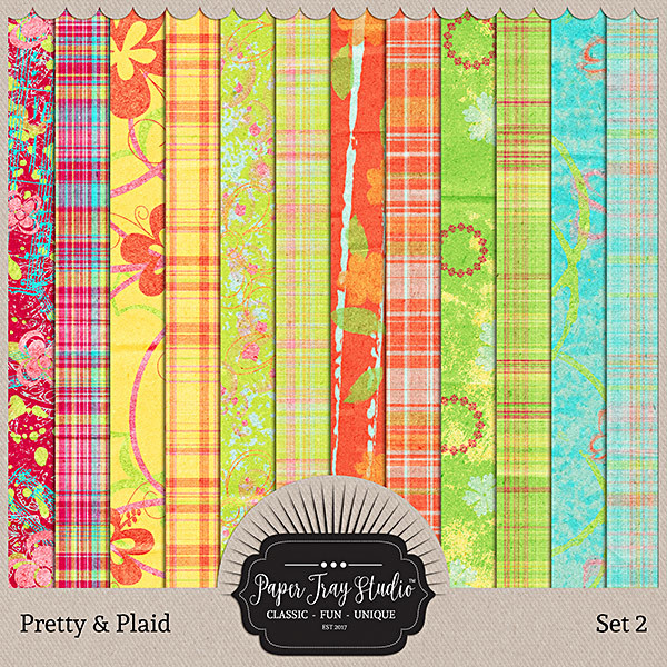 Pretty & Plaid - Set 2 Digital Art - Digital Scrapbooking Kits