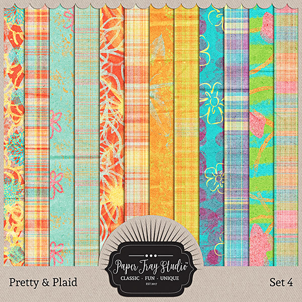 Pretty & Plaid - Set 4 Digital Art - Digital Scrapbooking Kits