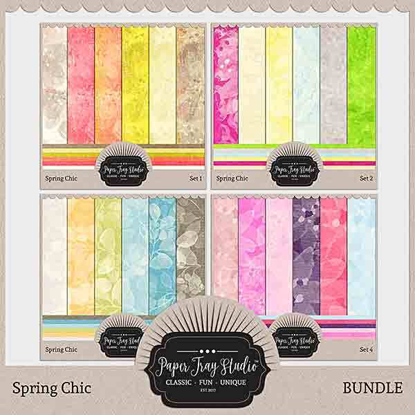 Spring Chic - Bundle Digital Art - Digital Scrapbooking Kits