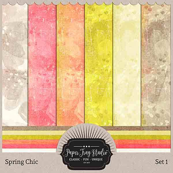 Spring Chic - Set 1 Digital Art - Digital Scrapbooking Kits