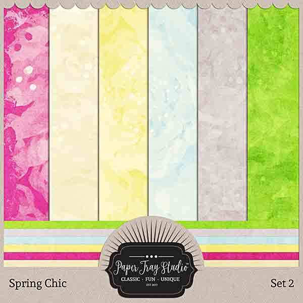 Spring Chic - Set 2 Digital Art - Digital Scrapbooking Kits