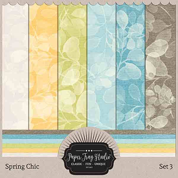 Spring Chic - Set 3 Digital Art - Digital Scrapbooking Kits