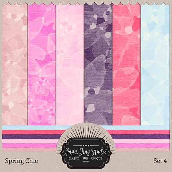 Spring Chic - Set 4 Digital Art - Digital Scrapbooking Kits