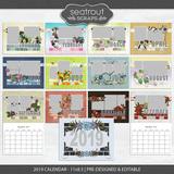 2019 Calendar 11x8.5 Pre-designed & Editable