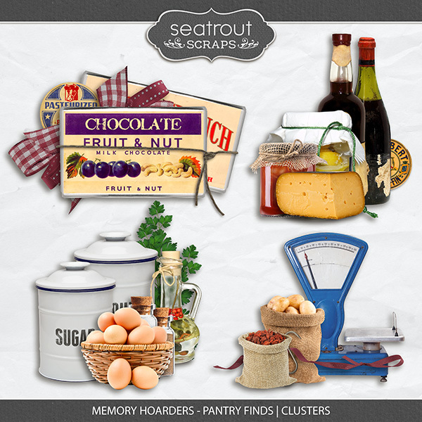 Memory Hoarders - Pantry Finds Clusters Digital Art - Digital Scrapbooking Kits