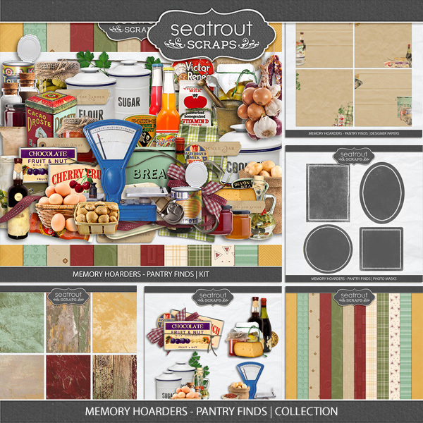 Memory Hoarders - Pantry Finds Collection Digital Art - Digital Scrapbooking Kits