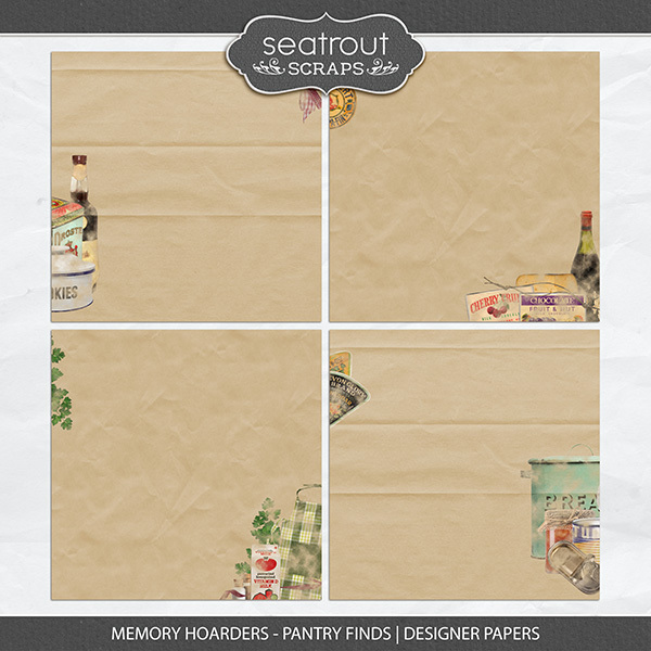 Memory Hoarders - Pantry Finds Designer Papers Digital Art - Digital Scrapbooking Kits
