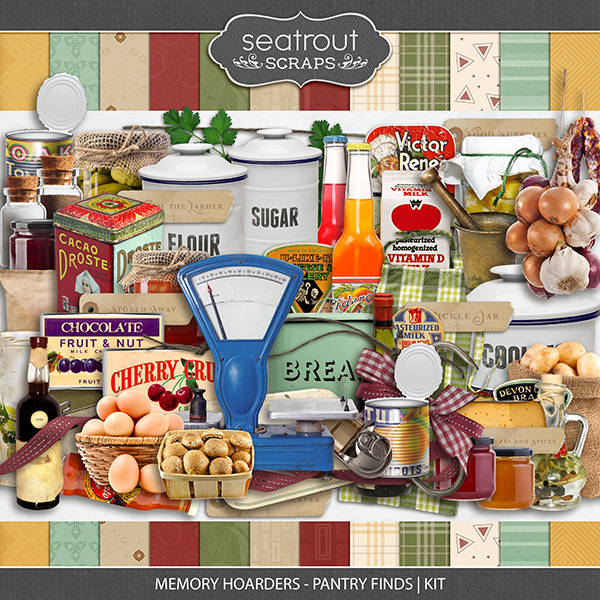 Memory Hoarders - Pantry Finds Kit Digital Art - Digital Scrapbooking Kits