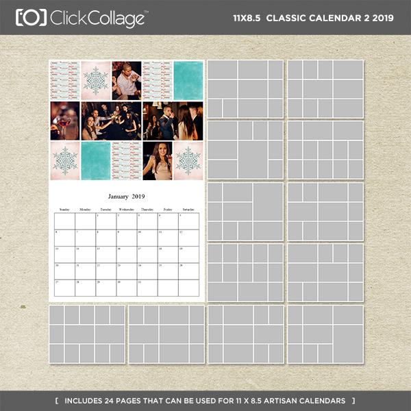 2019 Classic Calendar 2 - 11 X 8.5