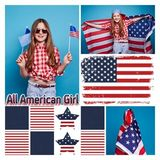 All American Girl Square Canvas