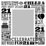 Birthday Milestones - Adult Age 21 Canvas