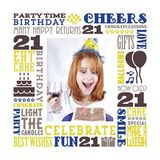 Birthday Milestones - Adult Age 21 Canvas