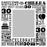 Birthday Milestones - Adult Age 30 Canvas