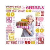 Birthday Milestones - Adult Age 60 Canvas