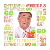 Birthday Milestones - Adult Age 60 Canvas