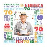 Birthday Milestones - Adult Age 70 Canvas