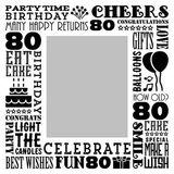 Birthday Milestones - Adult Age 80 Canvas