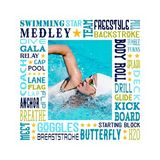 Swimming Star Subway Art Canvas