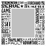 Tennis Star Subway Art Canvas