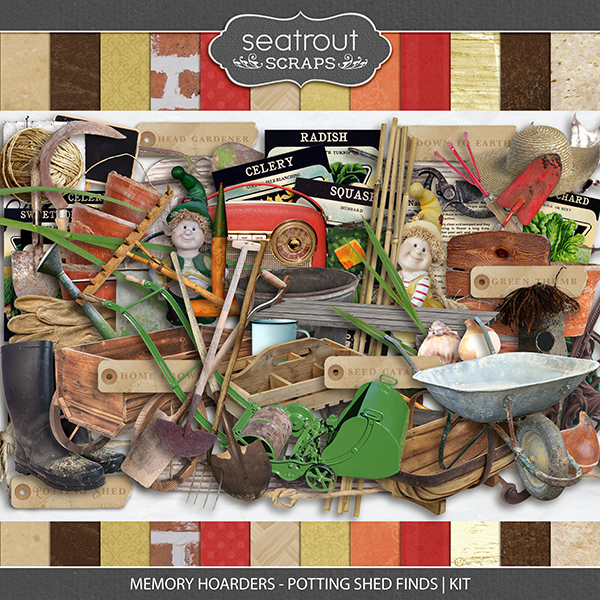 Memory Hoarders Potting Shed Finds - Kit Digital Art - Digital Scrapbooking Kits