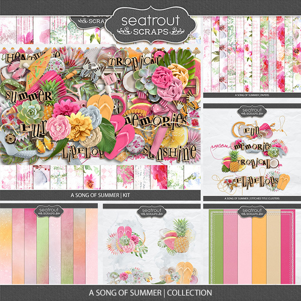 A Song Of Summer - Collection Digital Art - Digital Scrapbooking Kits