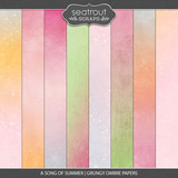 A Song Of Summer Grungy Ombre Papers