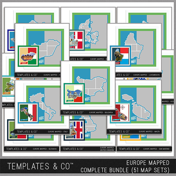 Europe Mapped - Complete Bundle