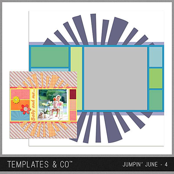 Jumpin' June 4 Digital Art - Digital Scrapbooking Kits