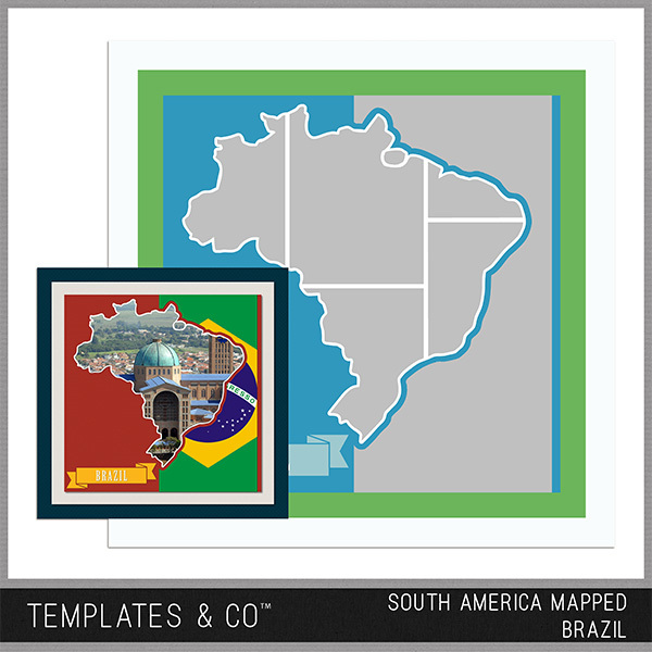 South America Mapped - Brazil