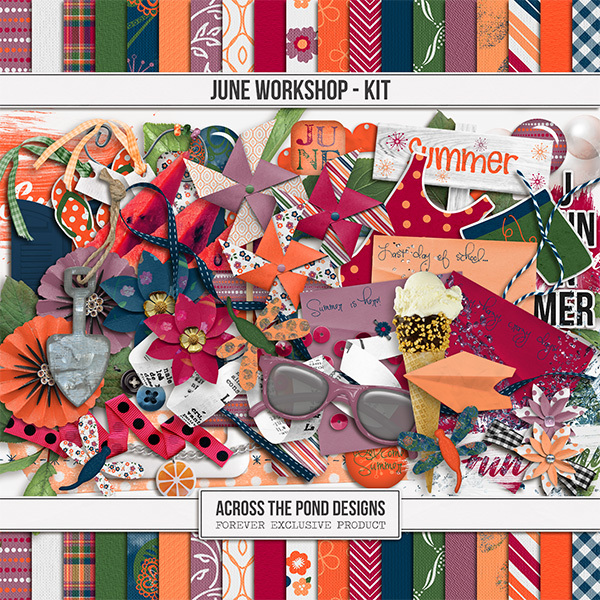 June Workshop - Page Kit Digital Art - Digital Scrapbooking Kits