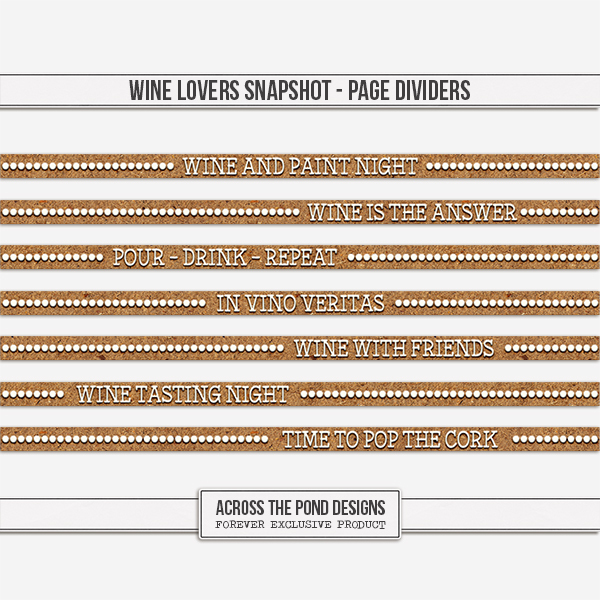 Wine Lovers Snapshot - Page Dividers