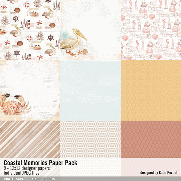 Coastal Memories Paper Pack