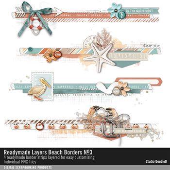 Readymade Layers Beach Borders No. 03