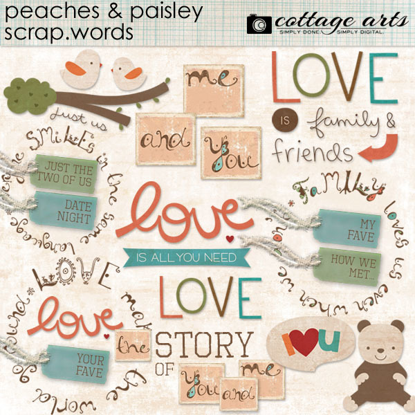 Peaches And Paisley Scrap.words
