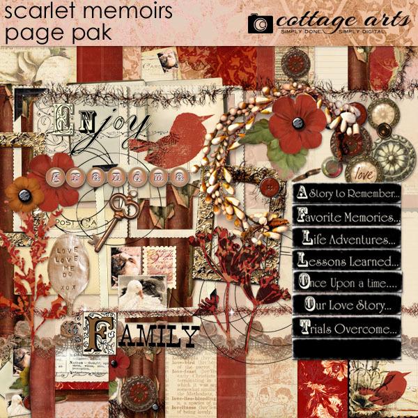 Scarlet Memoirs Page Pak