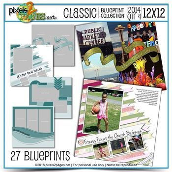 Classic Blueprint Collection 2014 - Quarter 4 (12x12)