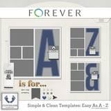 Clean And Simple Templates - Easy As A - Z And Easy As 1, 2, 3 Bundle