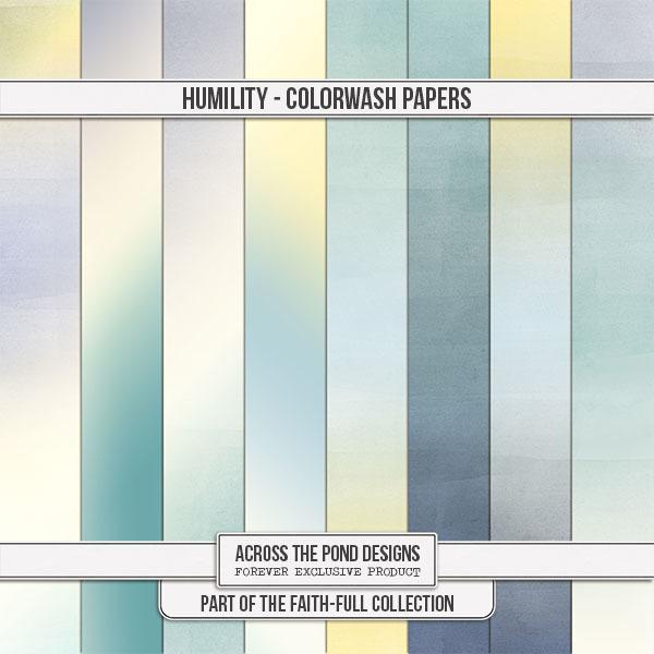 Faithfull Series - Humility - Colorwash Papers Digital Art - Digital Scrapbooking Kits